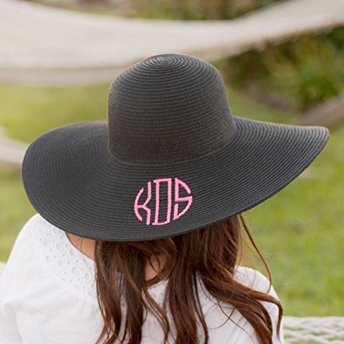 monogram beach hat